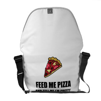 Feed Me Pizza Pretty Courier Bag