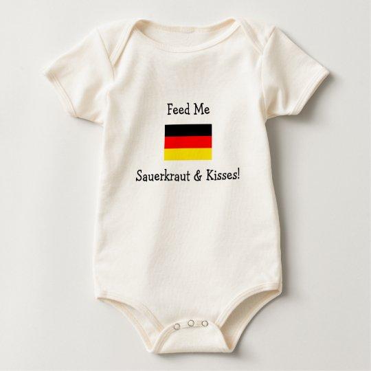 Feed Me Sauerkraut & Kisses! Baby Bodysuit