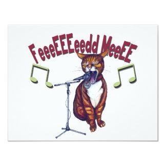 Feed Me Singing Cat Card