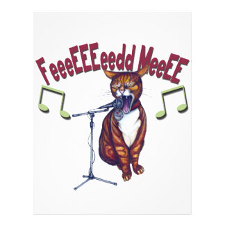 Feed Me Singing Cat Flyer