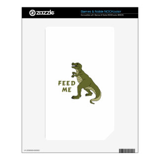 Feed Me NOOK Color Decals