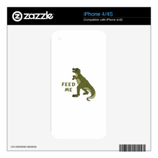 Feed Me Decal For iPhone 4S