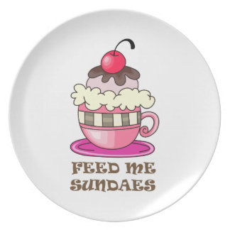 FEED ME SUNDAES PARTY PLATES