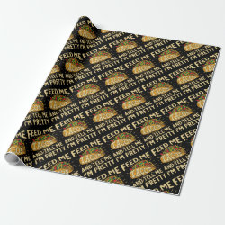 Glossy Wrapping Paper with Mustache Mugs design