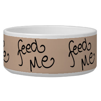 Feed Me (taupe) Bowl
