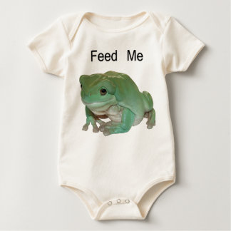 Feed Me - White's Tree Frog Baby Bodysuit