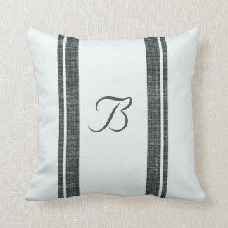 Feed Sack Style Pillow w Monogram