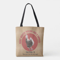 Feed Sack style Tote - Kooky Rooster