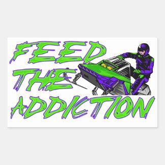 Feed The Addiction Rectangular Sticker