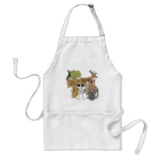 Feed the Animals Adult Apron
