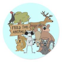 Feed the Animals Classic Round Sticker
