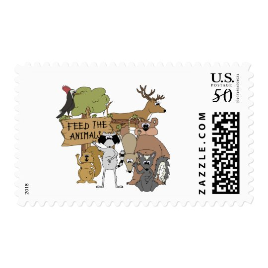 Feed the Animals Postage