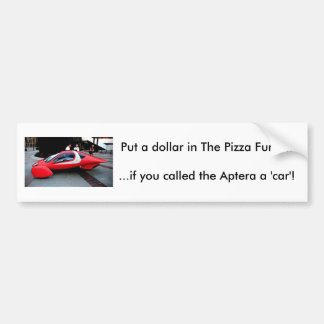Feed The Aptera Pizza Fund Bumper Sticker