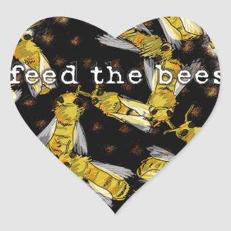 Feed the Bees Heart Sticker