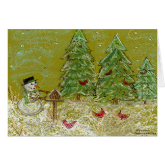 Feed the Birds this Christmas Card