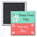 Feed the Cat 2 Inch Square Magnet