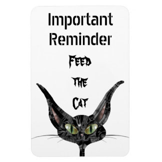 Feed the Cat Reminder Magnet