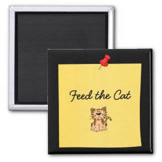 Feed the Cat Reminder post-it-note magnet