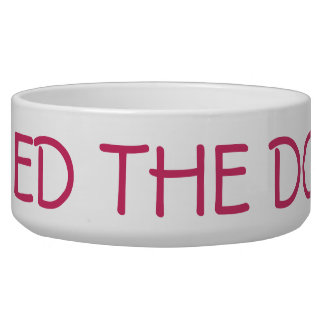Feed The Dog Bowl for Her