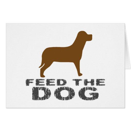 Feed the Dog Card