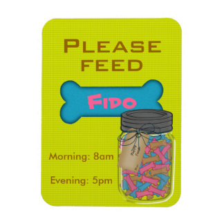 Feed the Dog Refrigerator Magnet