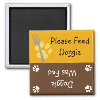 Feed the Doggie 2 Inch Square Magnet