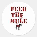 Feed The Mule Johan Franzen Round Sticker