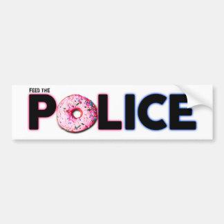 Feed The Police Car Bumper Sticker