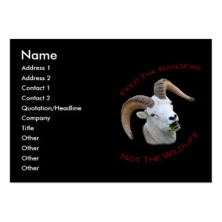 Feed The Rangers Large Business Cards (Pack Of 100)