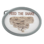 Feed the Snake Belt Buckle