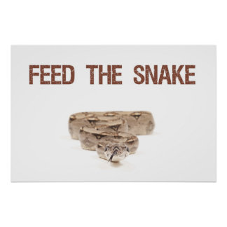 """Feed the Snake Poster 36"""" x 24"""""""