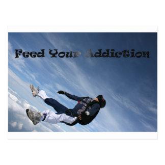 Feed your addiction postcard