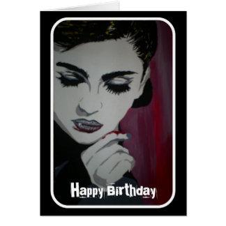 'Feed Your Habits' (Vampire) Birthday Card