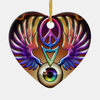 Feed Your Head by J. Matthew Root Ceramic Ornament