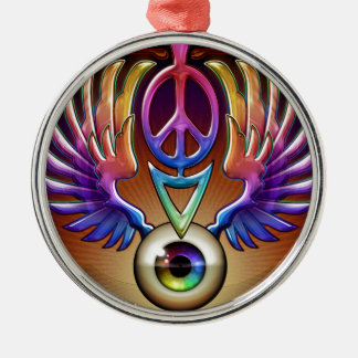 Feed Your Head by J. Matthew Root Metal Ornament