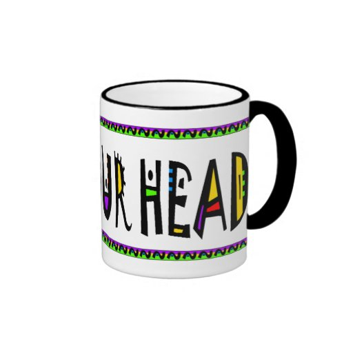 FEED YOUR HEAD RINGER COFFEE MUG
