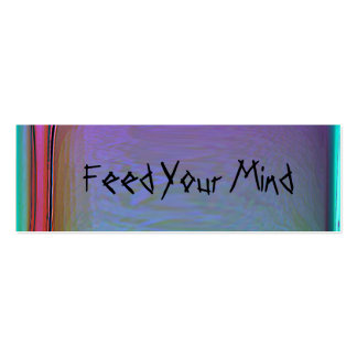 Feed Your Mind Customizable Bookmark2 Double-Sided Mini Business Cards (Pack Of 20)