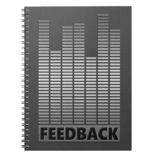 Feedback concept. notebook