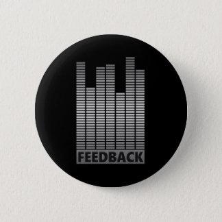 Feedback concept. pinback button