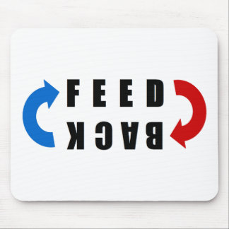 Feedback red and blue mouse pad