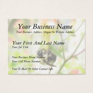 Feeding - Bee On Columbine Business Card