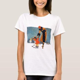 Feeding Birds in the Snow T-Shirt