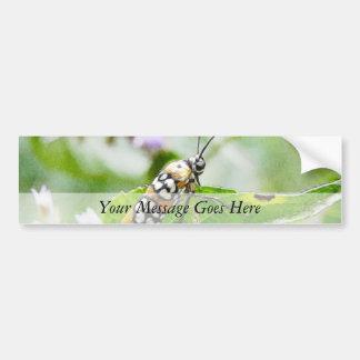 Feeding – Ermine Moth on Agastache Car Bumper Sticker