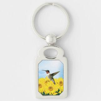 Feeding Hummingbird Keychain
