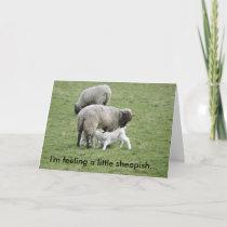 Feeding_Lambs, I'm feeling a little sheepish... Card