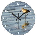 Feeding Sandpiper Clock