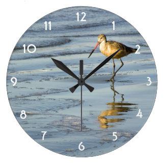 Feeding Sandpiper Wall Clock