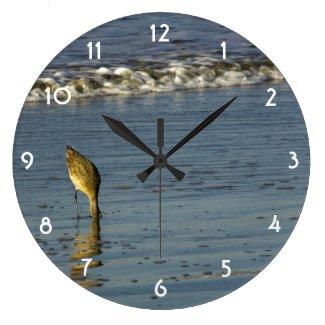 Feeding Sandpiper II Clock