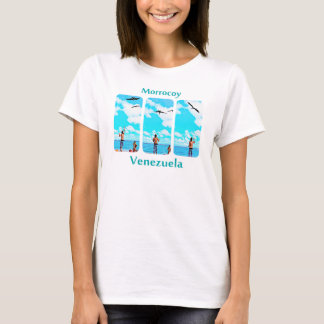 feeding seabirds in Morrocoy, Venezuela T-Shirt