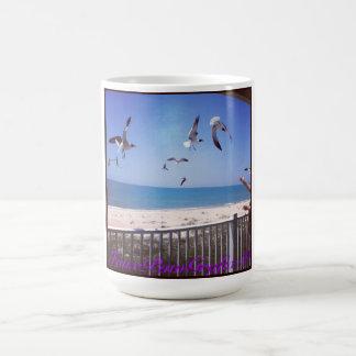 Feeding Seagulls Classic White Coffee Mug
